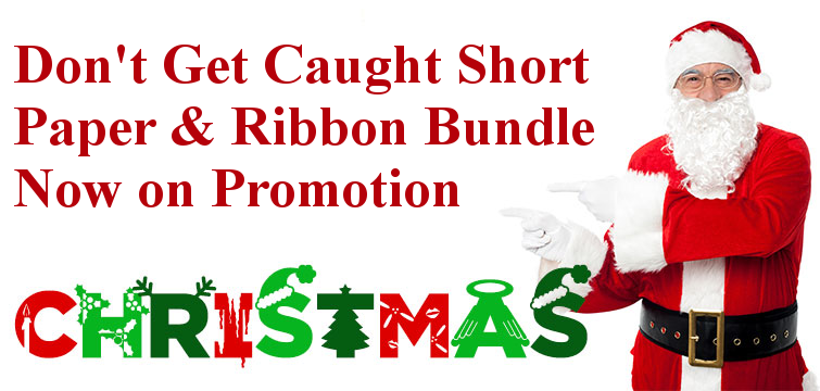 Paper and Ribbon Promotion for Christmas - Save 10%